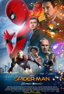Robert Downey Jr., Michael Keaton, Marisa Tomei, Jon Favreau, Logan Marshall-Green, Zendaya, and Tom Holland in Spider-Man: Homecoming (2017)