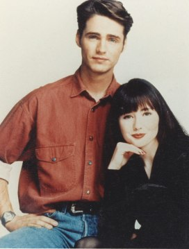Jason Priestley and Shannen Doherty in Beverly Hills, 90210 (1990)