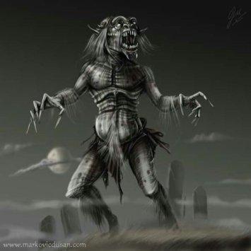 Un'illustrazione di un drekavac