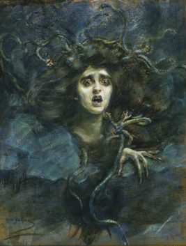 Alice Pike Barney, Medusa (Laura Dreyfus Barney), 1892, pastel on canvas, Smithsonian American Art Museum, Gift of Laura Dreyfus Barney and Natalie Clifford Barney in memory of their mother, Alice Pike Barney, 1951.14.64