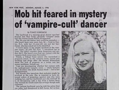 Il caso Susan Walsh - Vampiri- oltre la leggenda - articolo di giornale