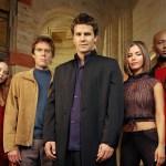 David Boreanaz, Charisma Carpenter, Amy Acker, Alexis Denisof, and J. August Richards in Angel (1999)