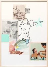 Schwimmbad/VA27-2 | Collage/Mixed Media | 100 x 70 cm | gerahmt