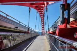 Fußgänger und Radfahrerbrücke