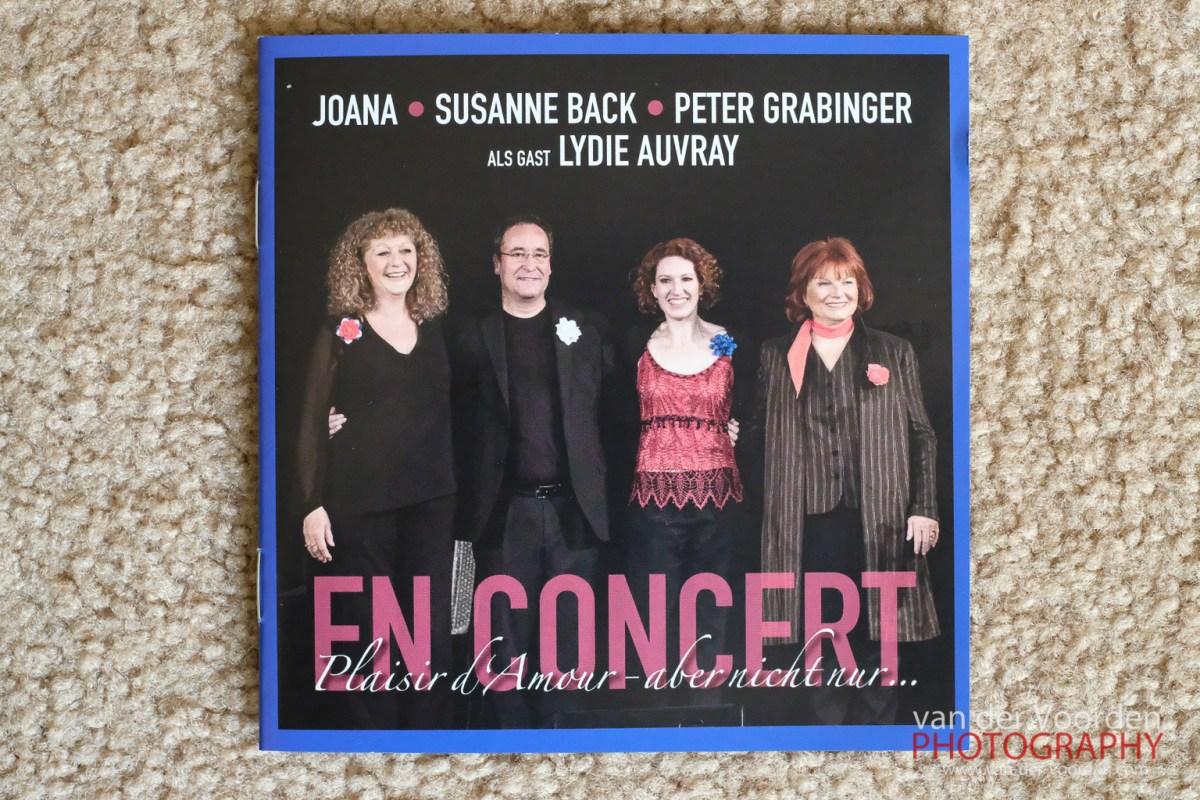 "2017 CD Joana - Susanne Back - Peter Grabinger als Gast Lydie Auvray ""En Concert - Plaisir d´Amour - aber nicht nur ..."""