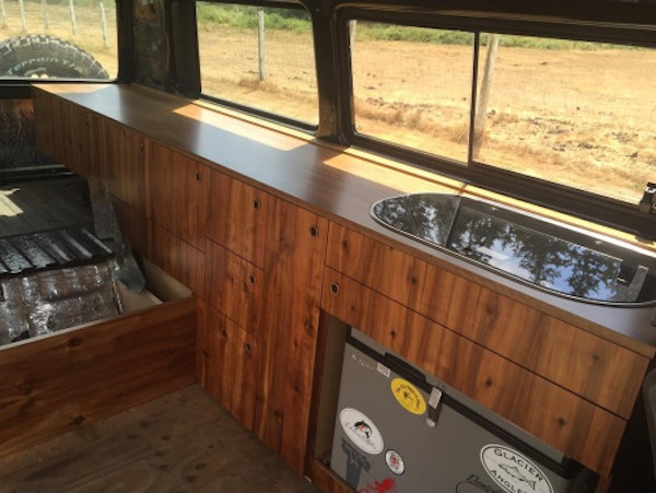 More Custom Wood Vanagon Cabinets Vanagon Hacks Amp Mods