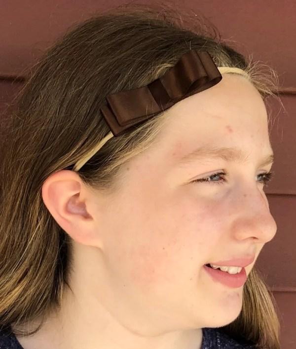 brown bow headband