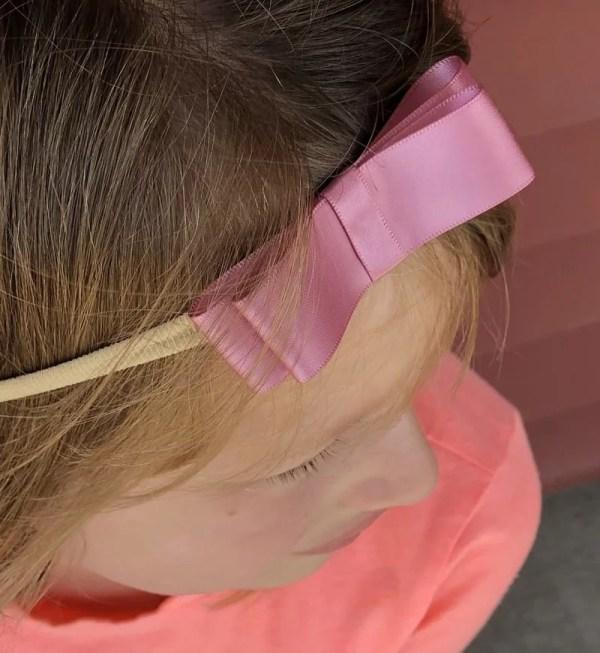 dusty rose bow headband