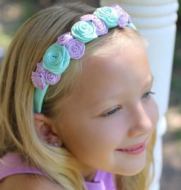 floral headband for flower girl