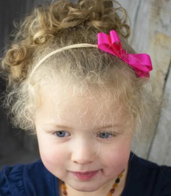 hot pink bow headband
