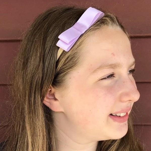 lavender bow for girl