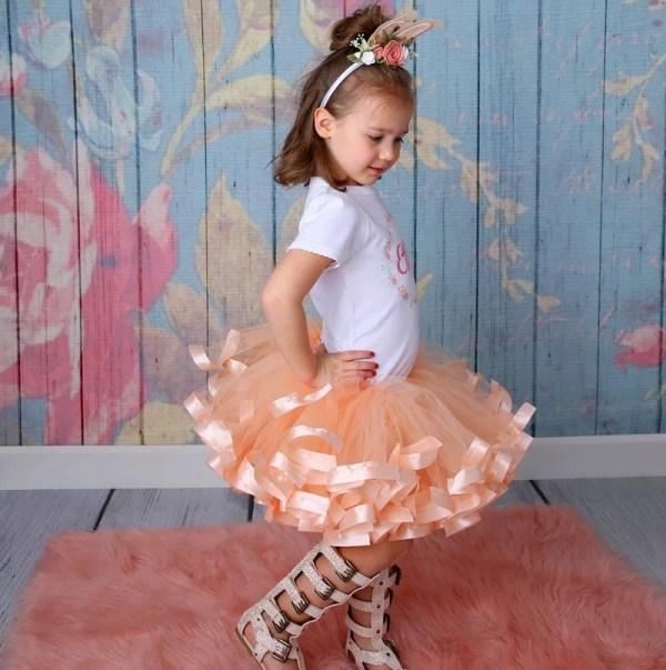 peach tutu dress