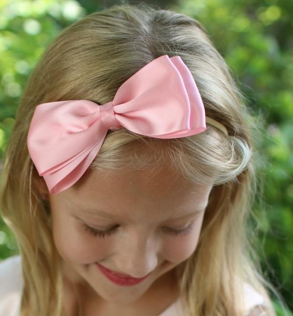 pink bow headband for girl