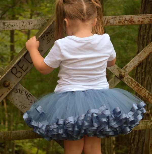 princess tutu dress - sky blue tutu