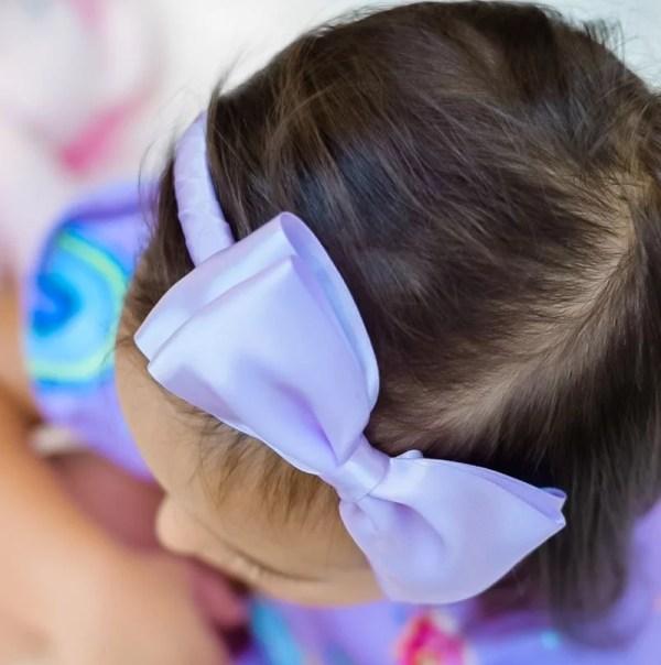 purple bow headband baby