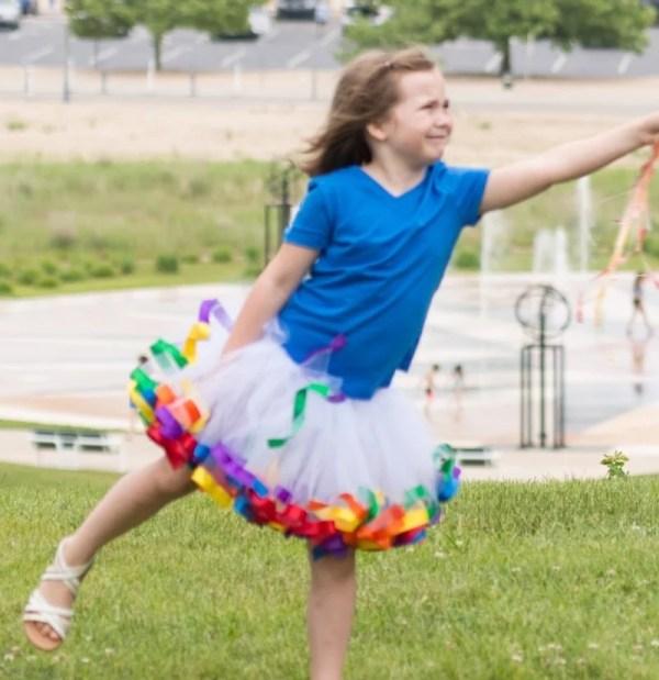 rainbow ballet tutu