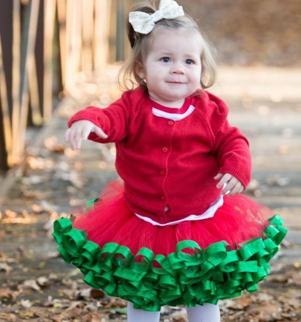 red and green tutu dress