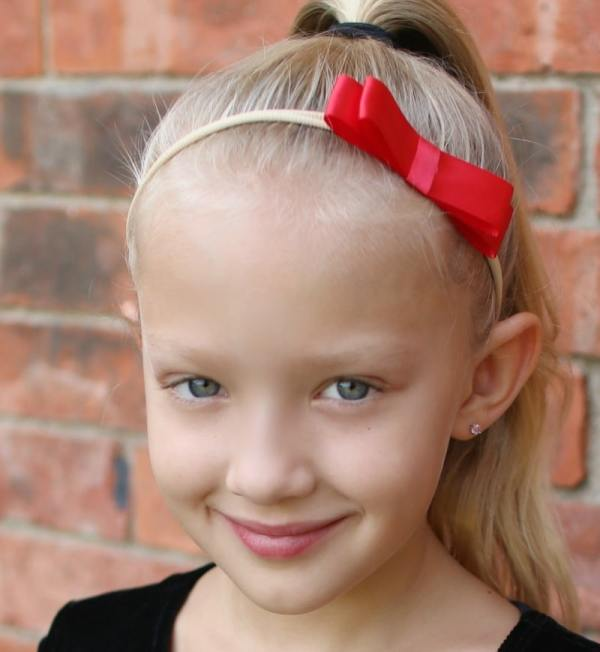 red bow headband toddler