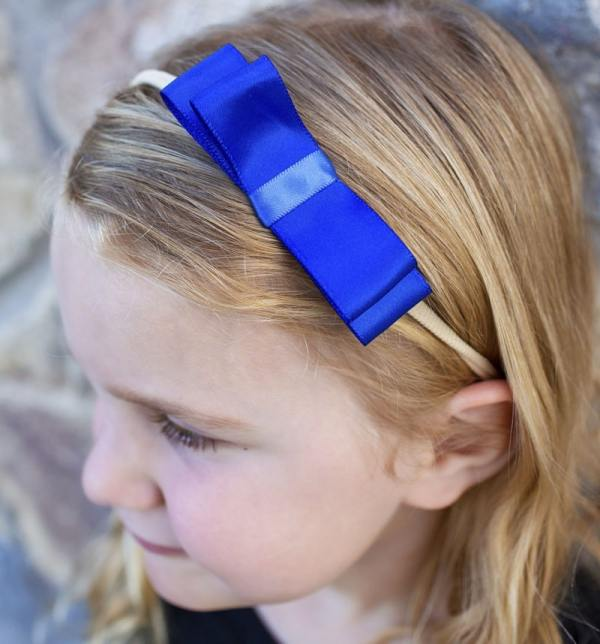 royal blue bow headband