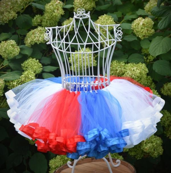 tutu red white and blue