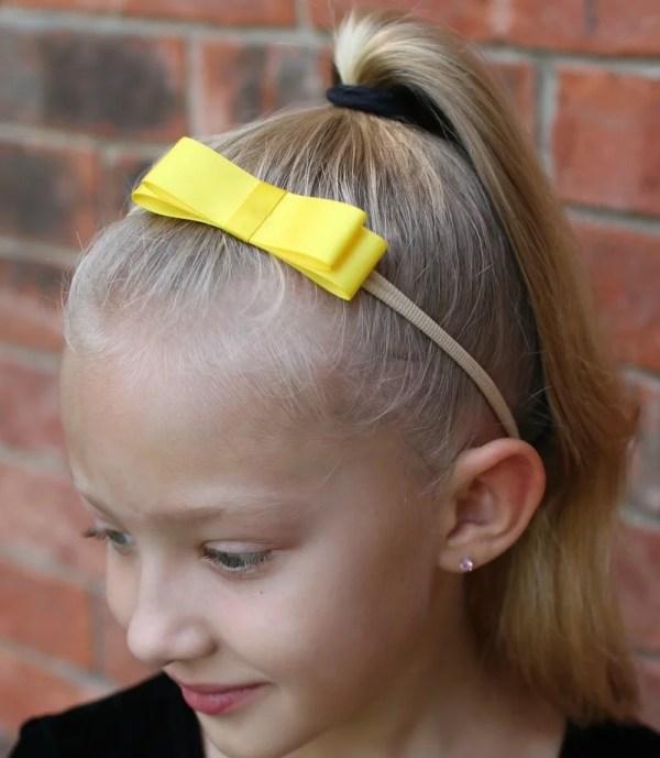 yellow bow headband