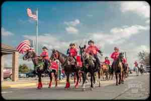 Horseback riders in 2014 Van Alstyne Christmas Parade