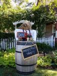 Wine Barrel Scarecrow