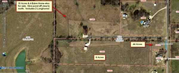 Overhead of 1783 Hackberry Van Alstyne,,TX 75495 8.44 acre parcels