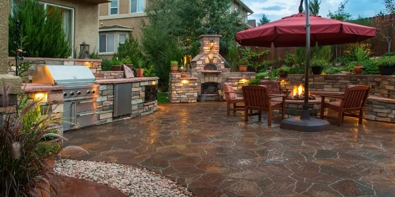 landscaping with natural stone