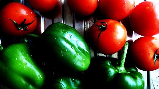 tomaten en paprika's