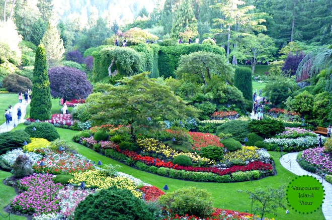 The Spectacular Butchart Gardens - Vancouver Island View