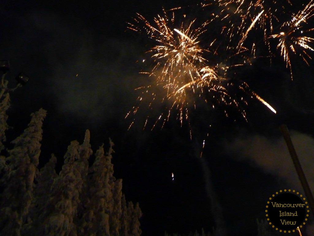 Fireworks display on Boxing Day at Mount Washington
