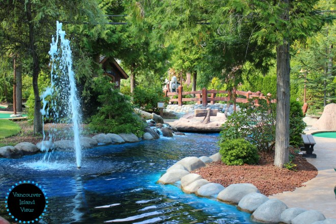 There are two great mini golfing attractions in Parksville that I highly recommend checking out while in the area.