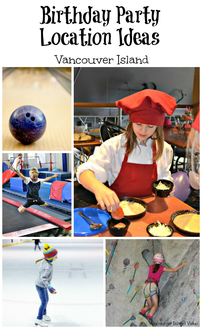 Are you looking for birthday party location ideas for your child's next birthday party? Do you live on Vancouver Island? Here is a great list of ideas for the central Vancouver Island area
