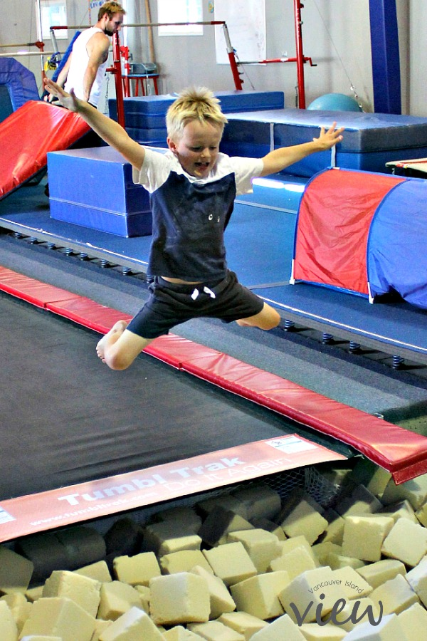 Gymnastics - great birthday party ideas for the kids in the central Vancouver Island area