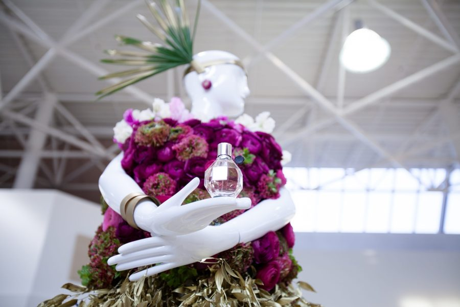 Fleurs de Ville event - combining fashion and flowers in Victoria.