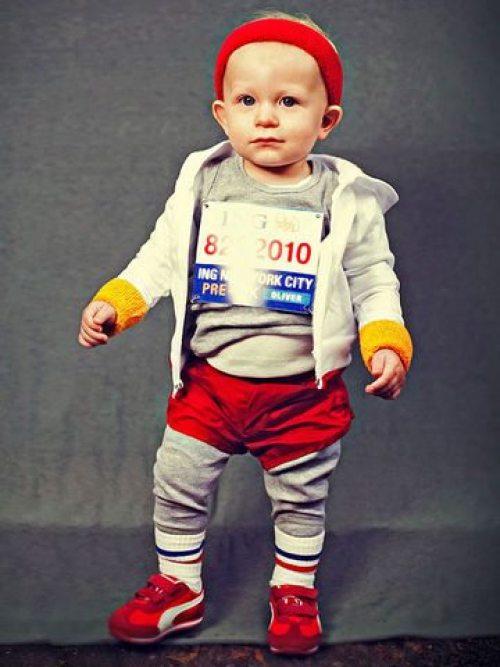 baby marathon runner costume