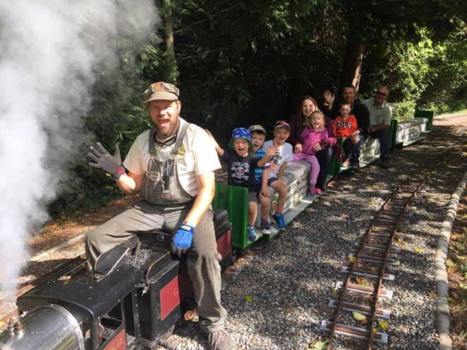 spring family outing - burnaby railway