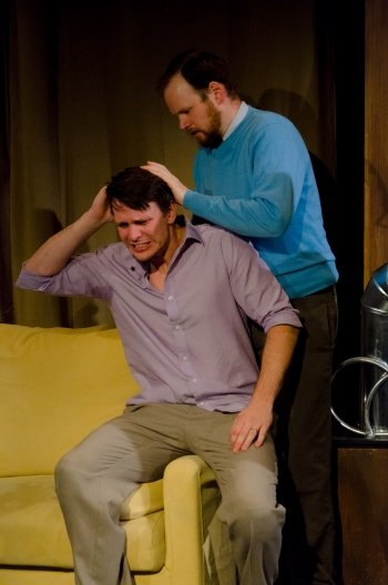 Jay Clift and Peter Carlone in Hunter Gatherers. Photo by Ivan Yastrebov.