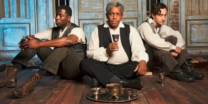 Carl Kennedy, Tom Pickett, and Giovanni Mocibob in The Whipping Man. Photo by Emily Cooper.