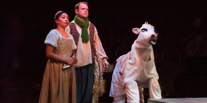 Jennifer Suratos, Christopher King and Ryan Lino in the Fighting Chance Productions presentation of Into The Woods. Photo by Nicol Spinola.