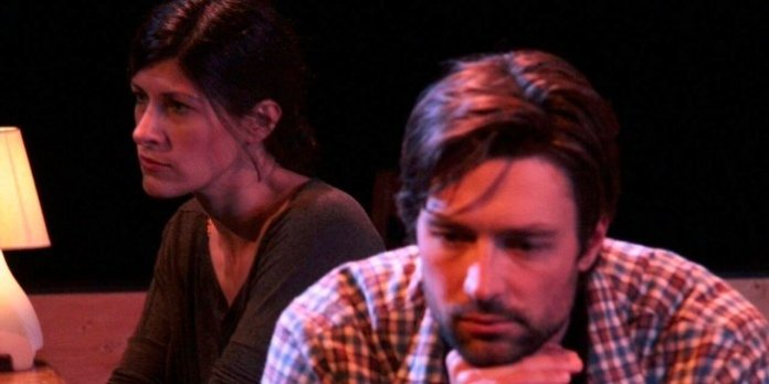 Sandra Medeiros and Carlo Marks in Neil LaBute's In A Forest, Dark and Deep. Photo by Angelo Renai.
