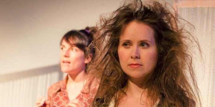 Stephanie Izsak and Caitlin McCarthy in the Theatre Plexus production of Scratch. Photo by Chicknskratch Productions.