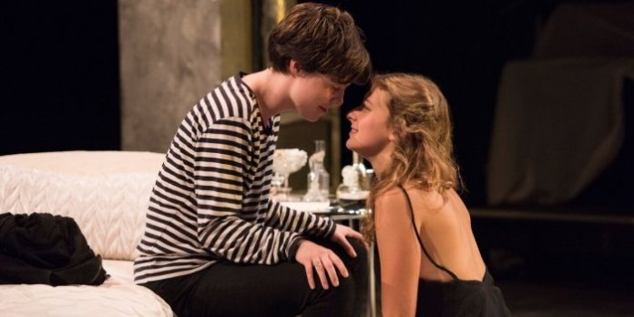 Camille Legg and Adelleh Furseth star as a same-sex Romeo and Juliet. Photo by David Cooper.