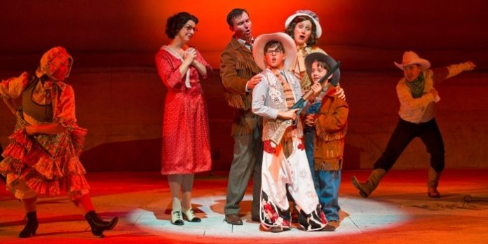 Members of the cast of A Christmas Story: The Musical. Photo by David Cooper.