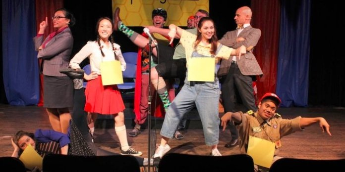 The cast of the Fighting Chance Productions presentation of The 25th Annual Putnam County Spelling Bee.