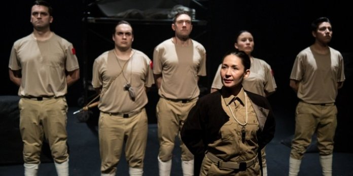 Members of the cast of Redpatch. Photo by Mark Halliday.