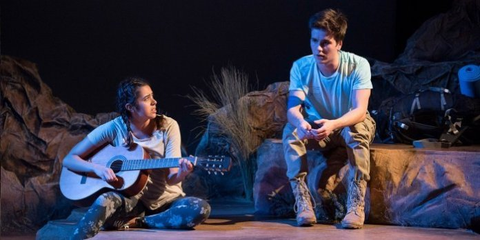 Mariana Munoz as Julia & Nolan McConnell-Fidyk as Cole in Wilderness. Photo by Emily Cooper.