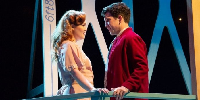 Erin Palm & Nick Fontaine as Mary and George Bailey in It's a Wonderful Life. Photo by David Cooper.