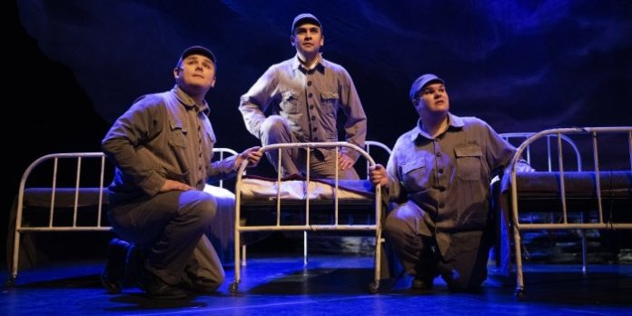 Dillan Chiblow, Aaron M. Wells, and Jacob MacInnis in Children of God. Photo by Emily Cooper Photography.